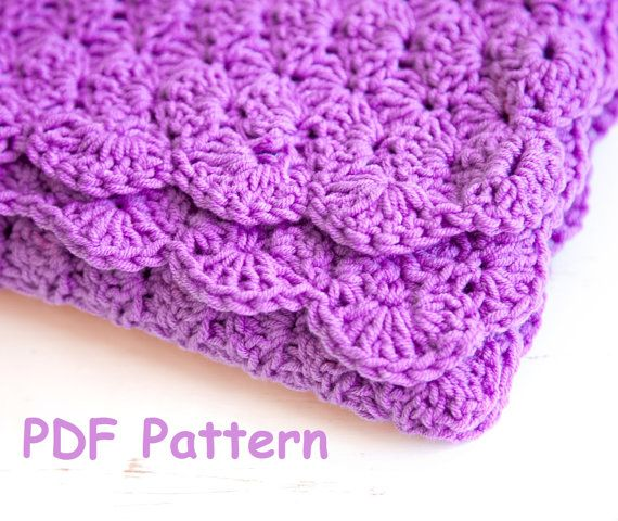 Crochet shell stitch baby blanket pattern - Easy crochet for beginners