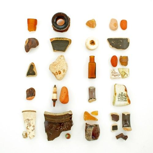 Amber Sea Glass and Beach China