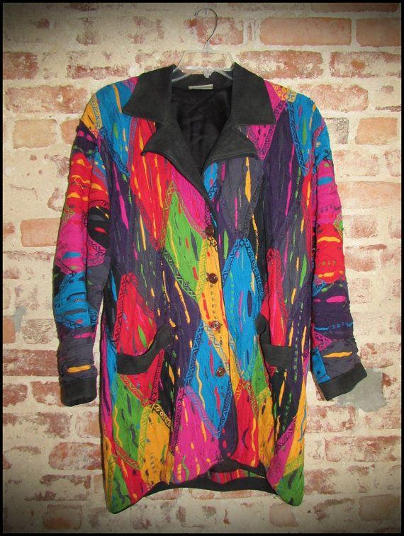 Vintage COOGI Australia 100 Percent Wool Sweater Blazer by RackRaidersVintage