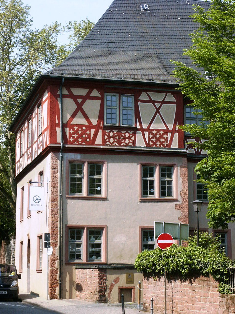 Frankfurt a.M. Höchst Frankfurt germany, Timber house