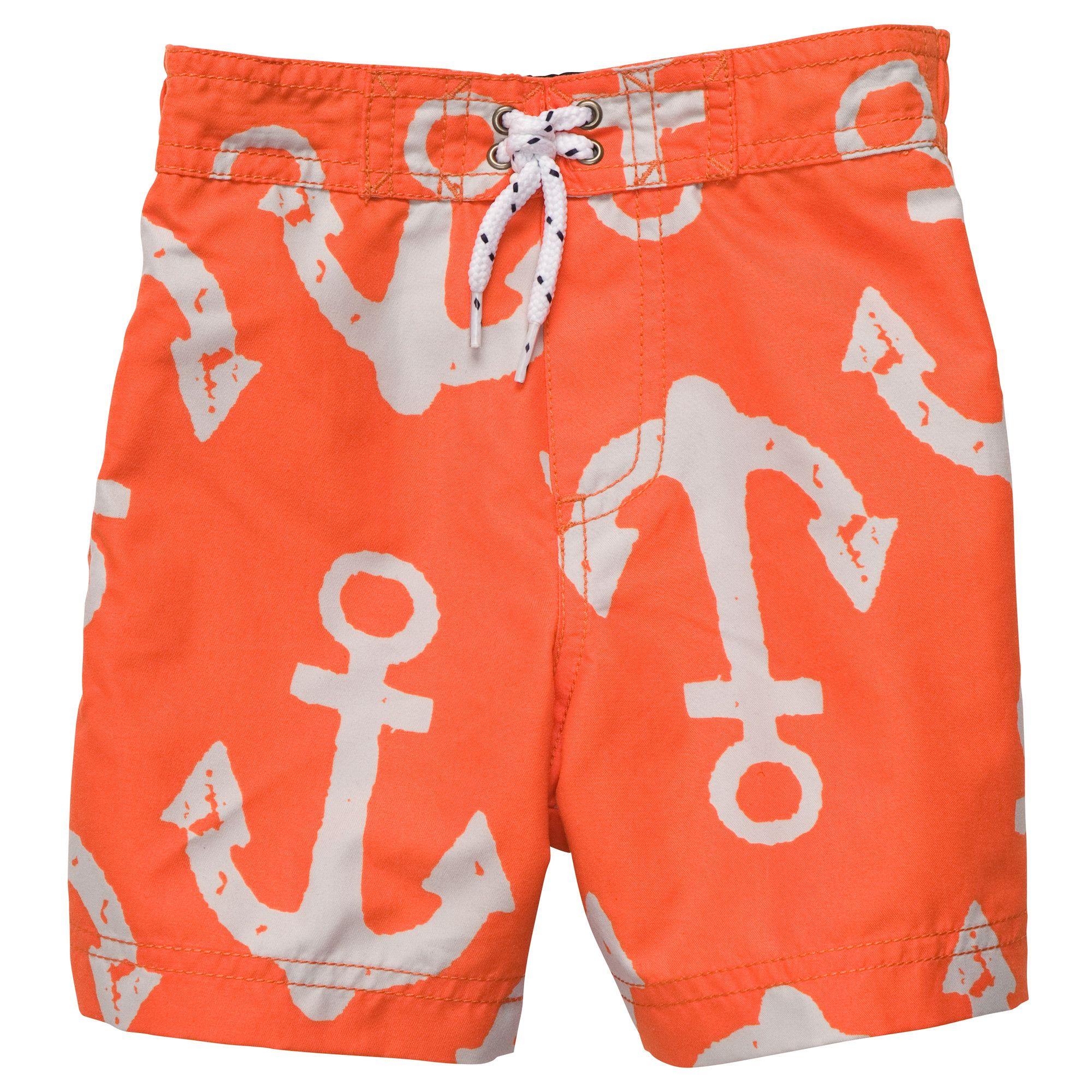 Anchor Print Swim Trunks Toddler Boy Swimwear If Baby J