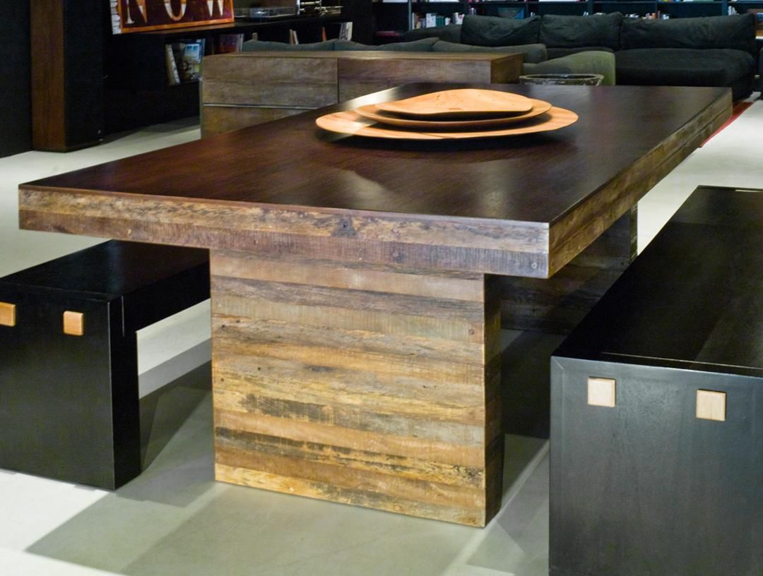 peroba wood furniture. Modern In Form, Organic Material, The Strip Dining Table Is Consummate Blend Peroba Wood Furniture