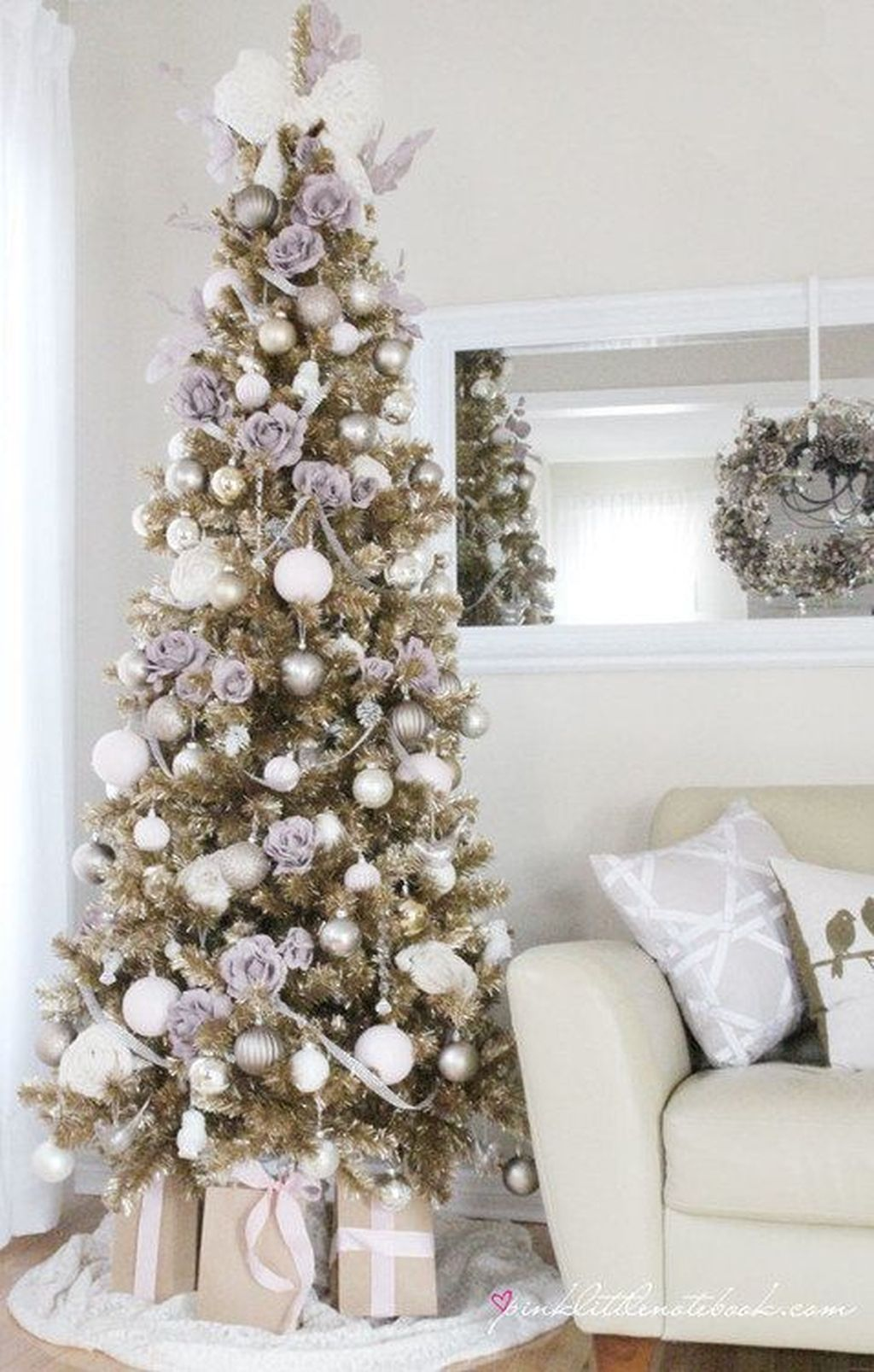 Everywhere you look this time of year  ll see christmas tree decoration ideas also lovely silver and white decorations home rh pinterest