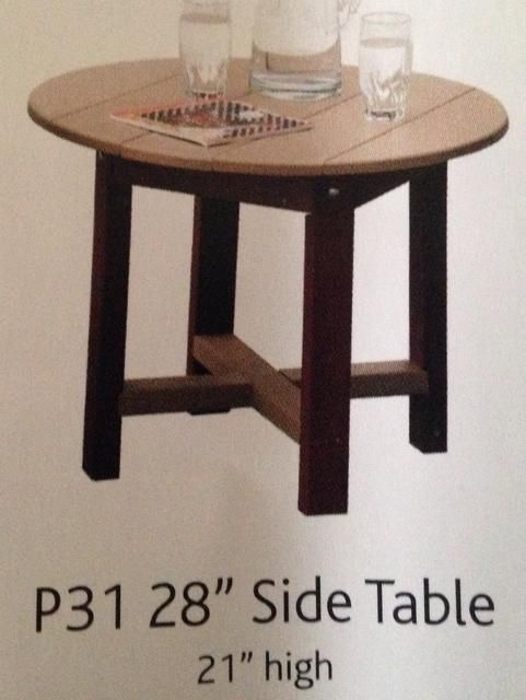 """Poly 28"""" Side Table"""