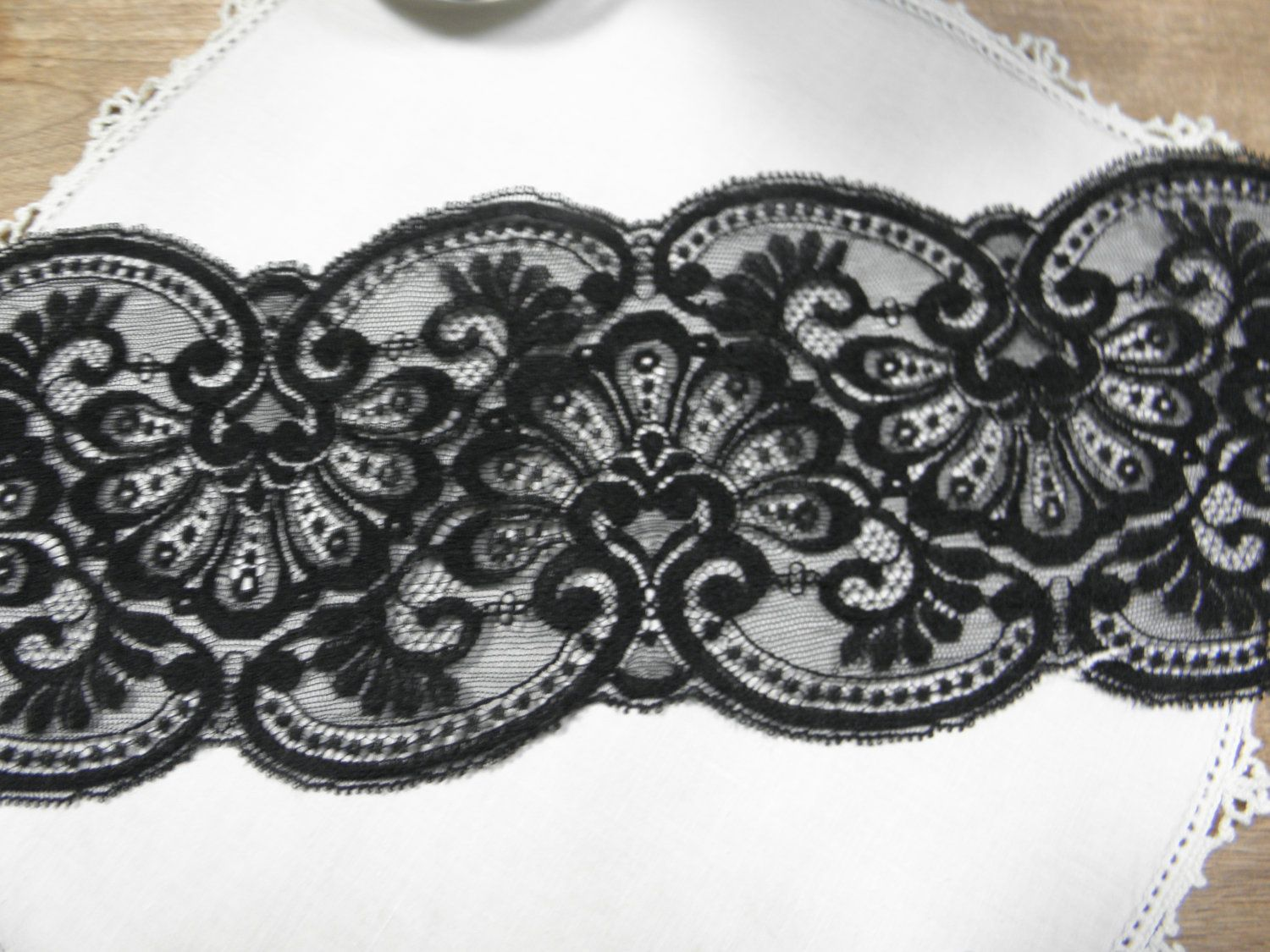 Vintage Black Lace 4 34 Inches Wide By 1 12 Yards Tattoos That I