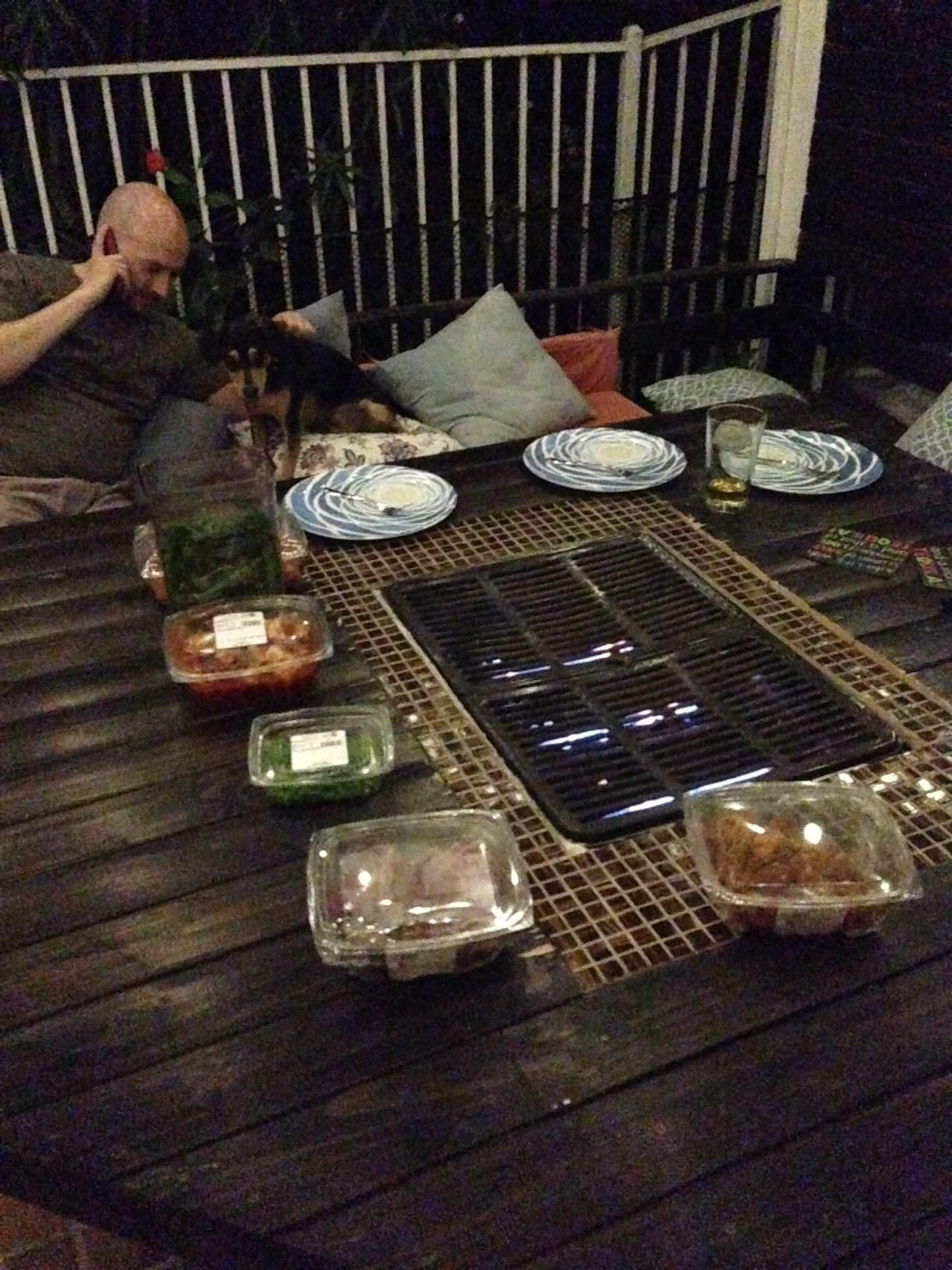 Homemade Korean Bbq Table Backyard Bbq Table Bbq Table Diy