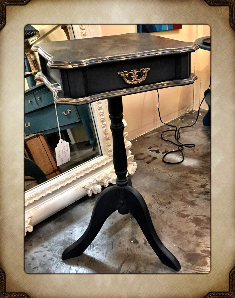 Antique gold and black table, $75.  Gaslamp Antiques Too, booth T-295.