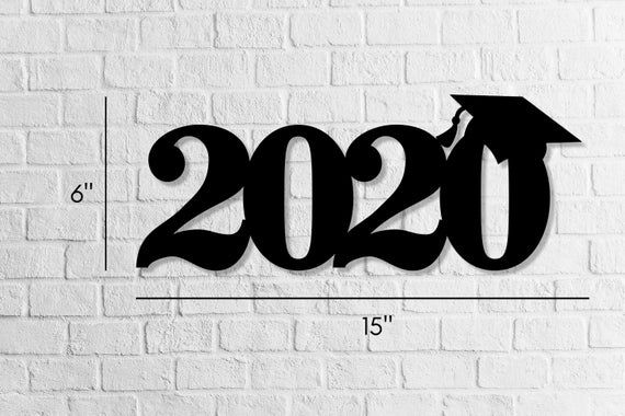 Photo of Graduation prop for pictures, 2020 wooden number, graduation decor, 2020 photo booth prop, wood lett