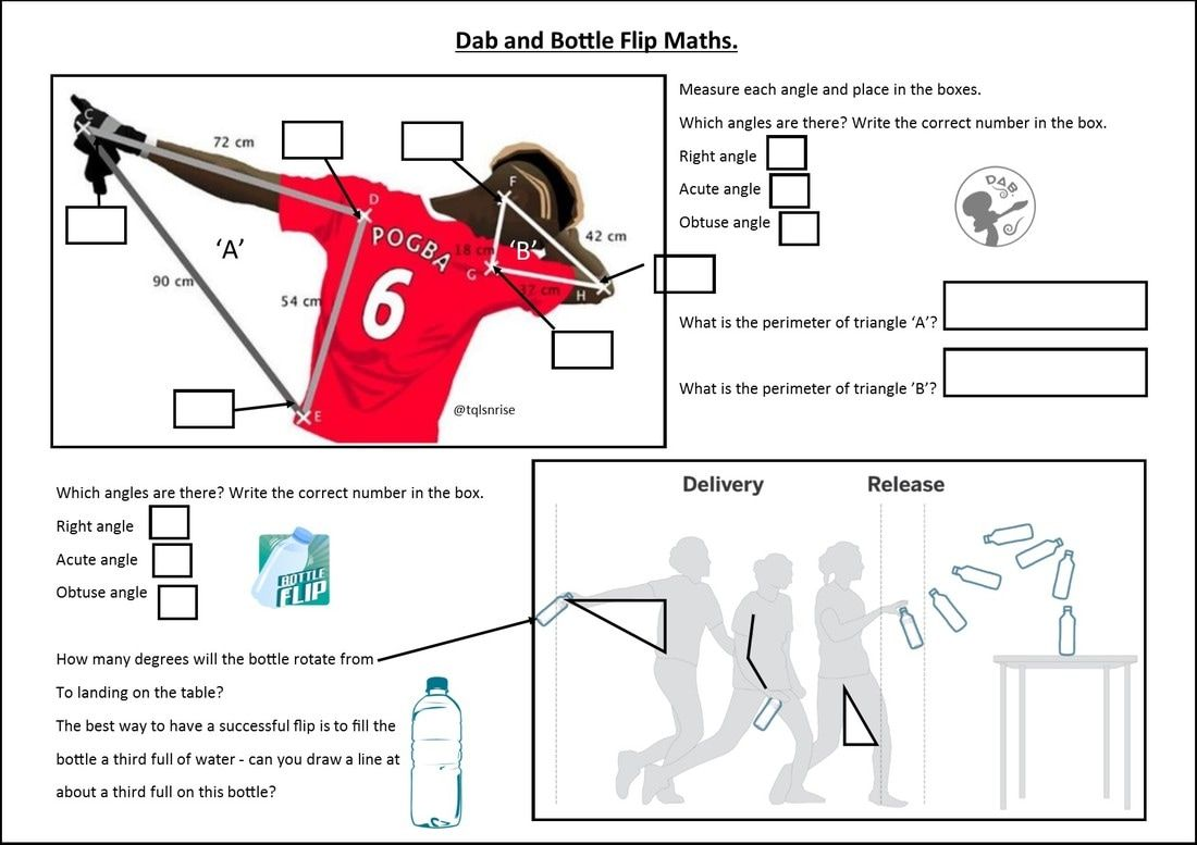 Workbooks the twits worksheets ks2 : The Maths of the Bottle Flip and Dabbing | Math | Pinterest ...