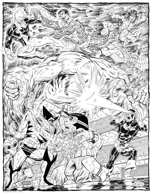 X Men Vs Alpha Flight Commission By John Byrne 20 Xmen Art Marvel Coloring John Byrne