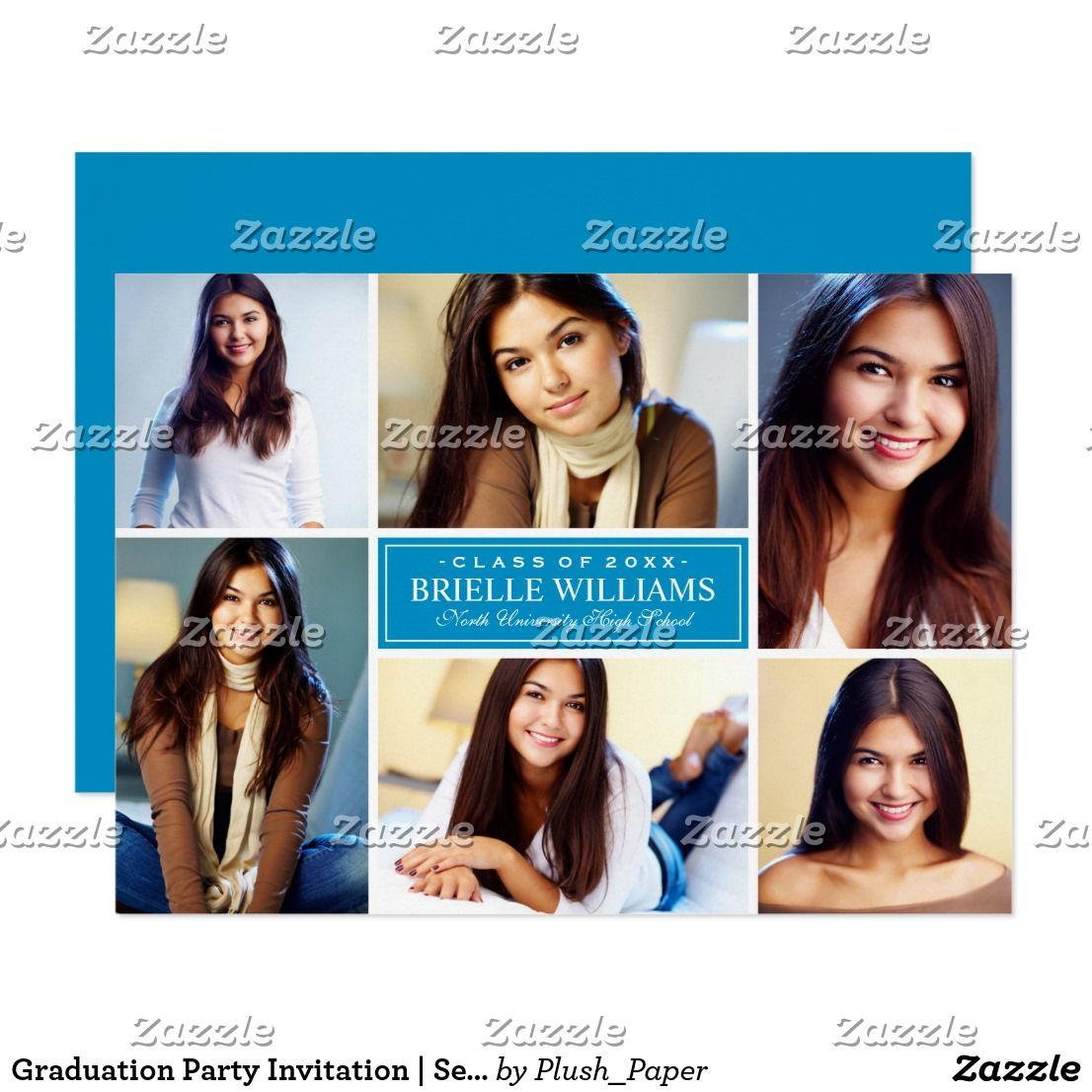 Graduation party invitation senior photo collage graduation graduation party invitation senior photo collage filmwisefo