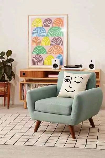 Comfy Armchair Chair Navy Living Rooms Room Chairs Pastel