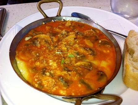 One blogger's favorite from our menu: Polenta crimini mushrooms