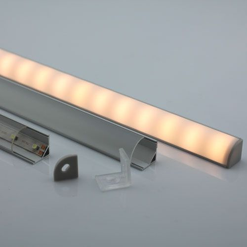 corner led light strip aluminium profile decor ideas. Black Bedroom Furniture Sets. Home Design Ideas