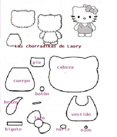 Las chorradikas de Laury: Hello Kitty | molde reno | Pinterest ...