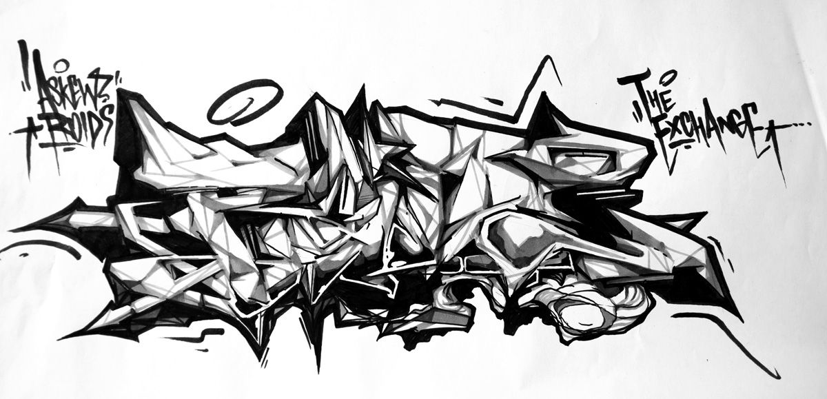 Roids By Askew The Exchange Msk Graffiti