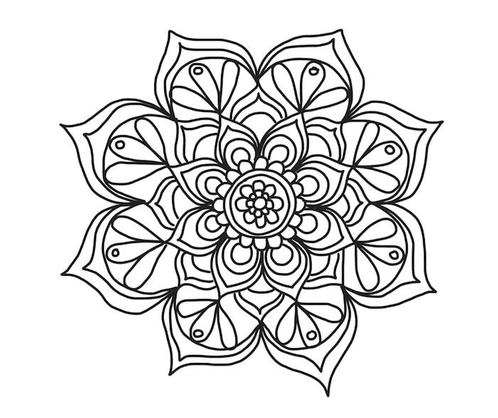 Ausmalbilder Mandala Blumen Kostenlos