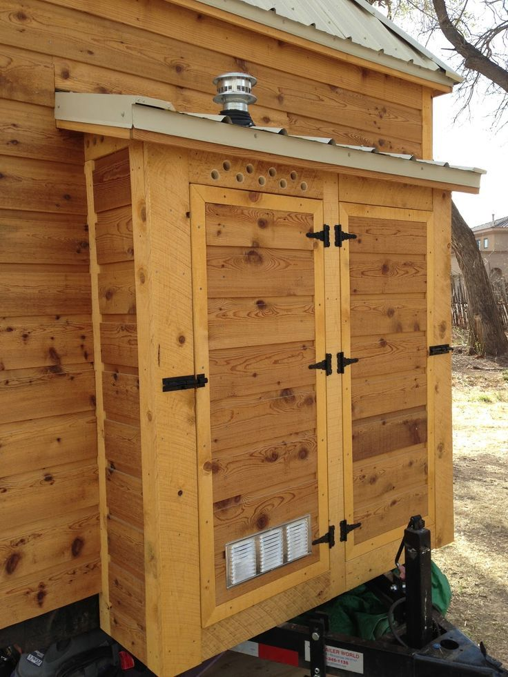 tiny house water heater. Painting Of Outdoor Water Heater Enclosure To Protect And Maintain Its Durability · Tiny House