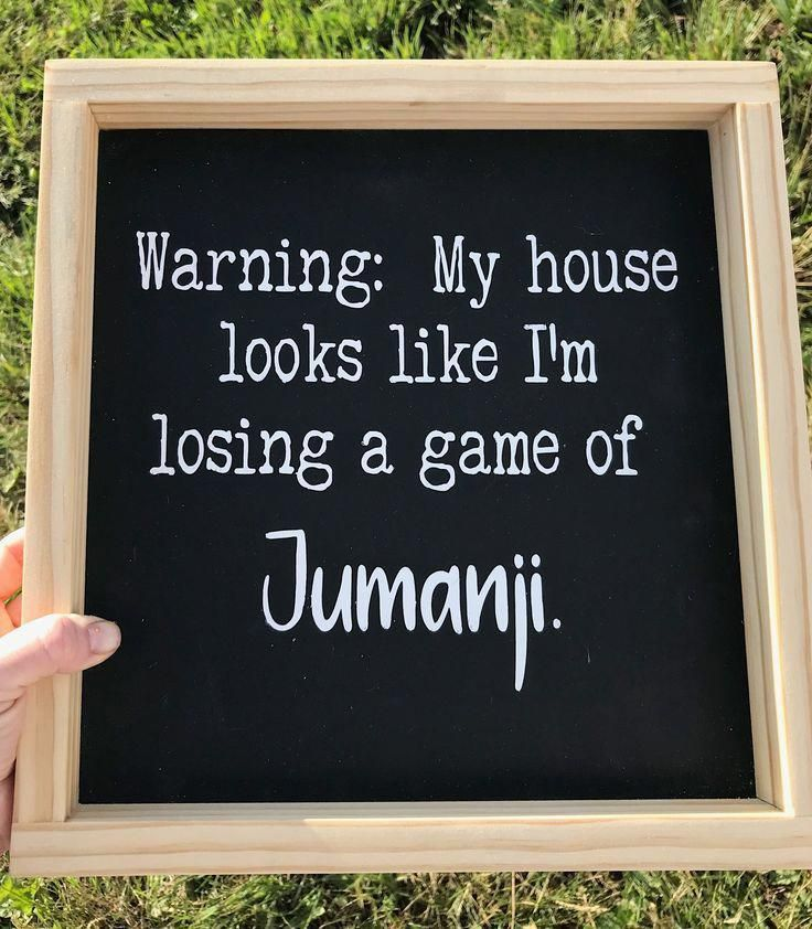 New Funny Signs Warning: My house looks like I'm losing a game of Jumanji, Handmade Wood Sign, Funny Wood Sign, Funny Sign Farmhouse Decor, Home Decor bohemian farmhouse decor #FarmhouseDecorTips 6