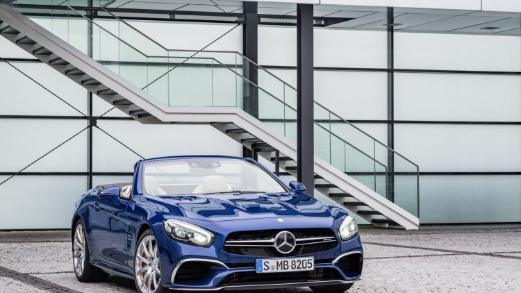 blue 2017 mercedes sl
