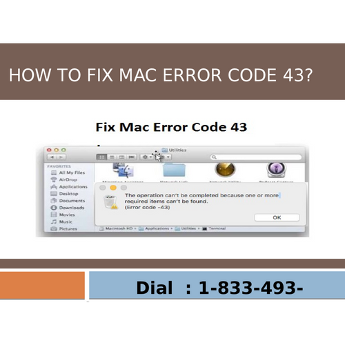 Watch PPT and learn step by step solution to Fix Mac Error Code 43