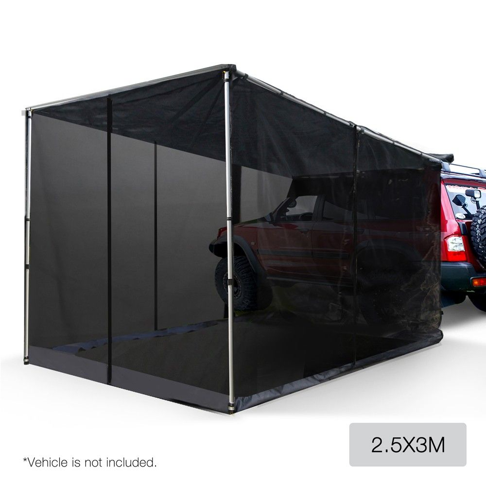 4Wd Awning Tent 2.5x3m side awning for car vehicle roof w/ fly mesh camper