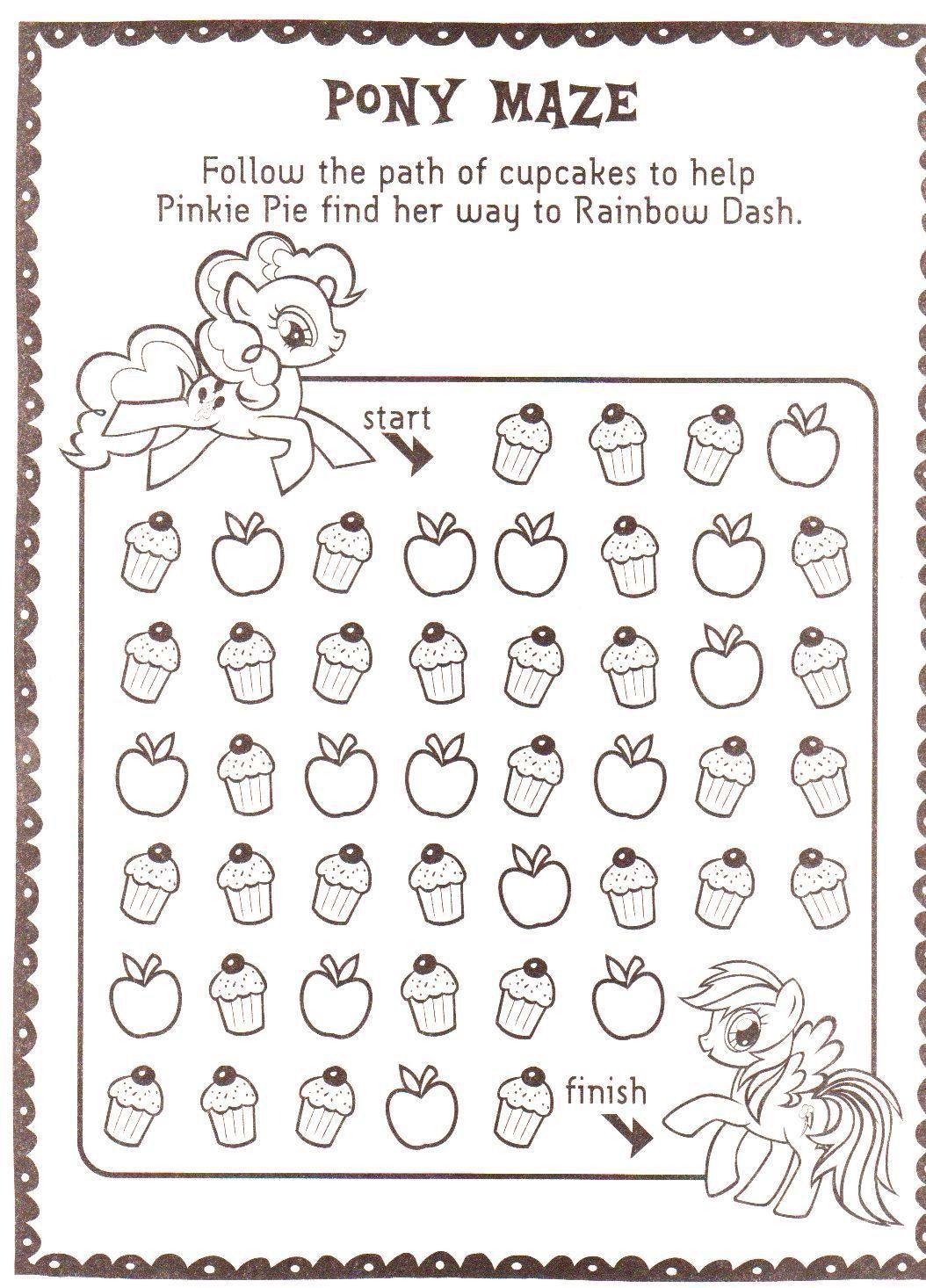 Pinkie Pie and Rainbow Dash cupcake maze | Pinterest