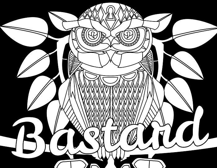 bastard adult coloring page swear 14 free printable coloring pages visit swearstressawaycom to download and print 14 swear word coloring pages - Swear Word Coloring Pages Printable Free