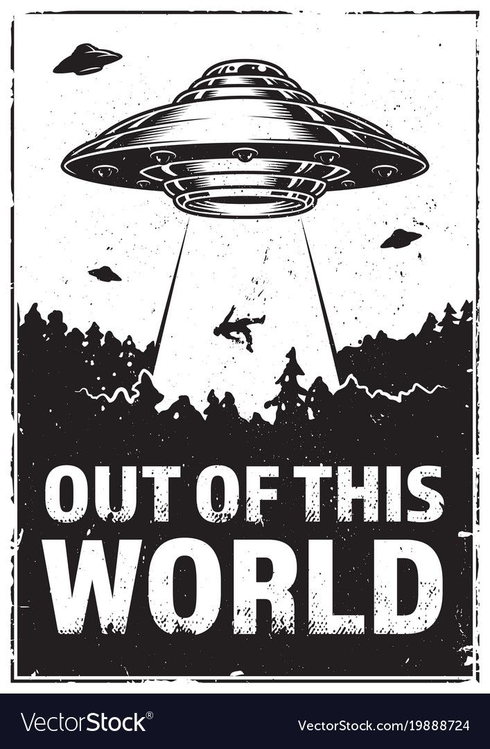 Photo of Ufo abducts human vector image on VectorStock