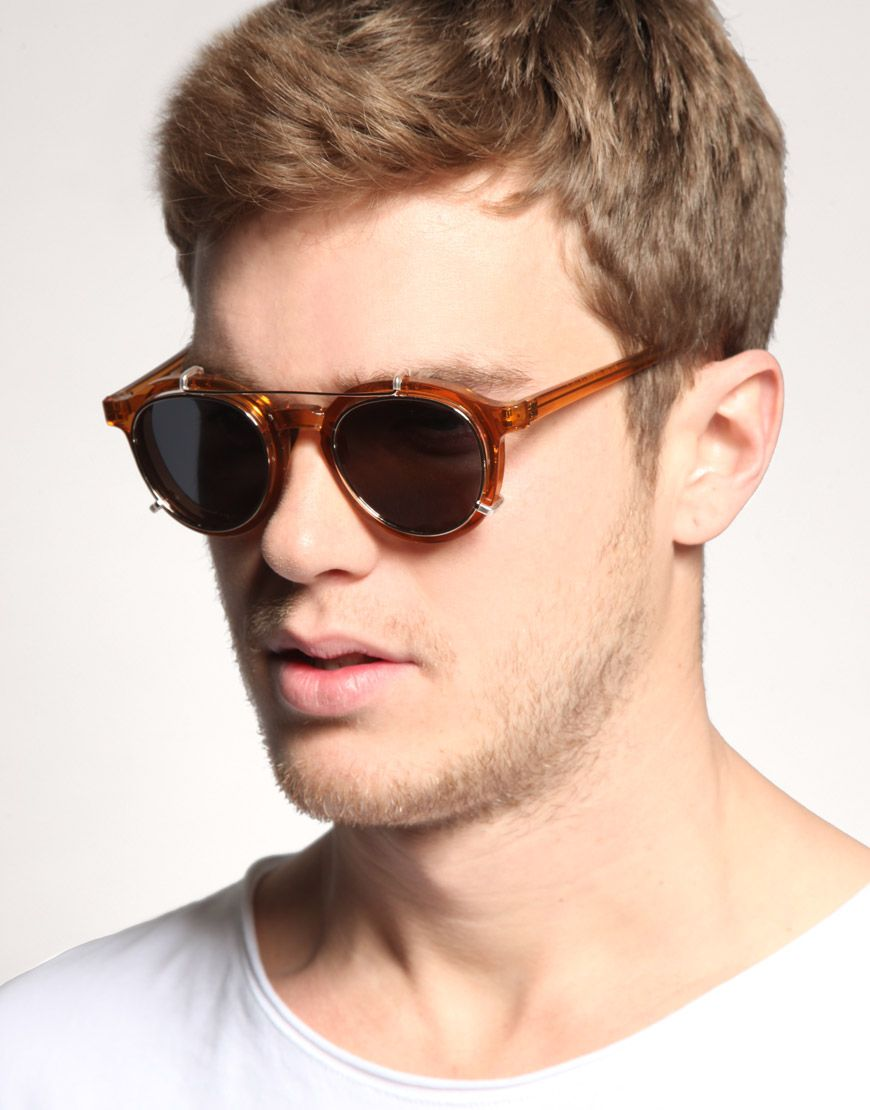 57f62fc29f0e23 Spitfire   Spitfire Round Sunglasses with Removable Lens at ASOS ...