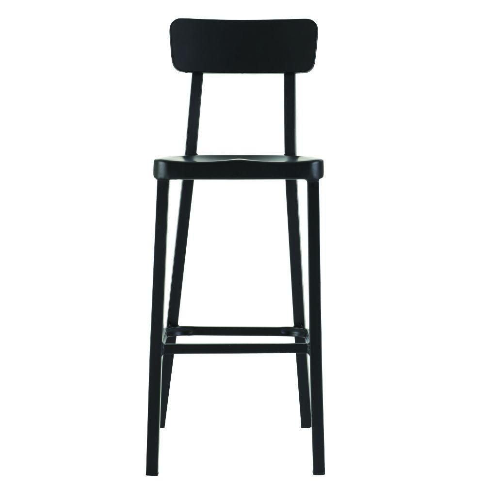 Home Decorators Collection Jacob Stackable Aluminum Bar Stool In Black 1920900210 The Depot