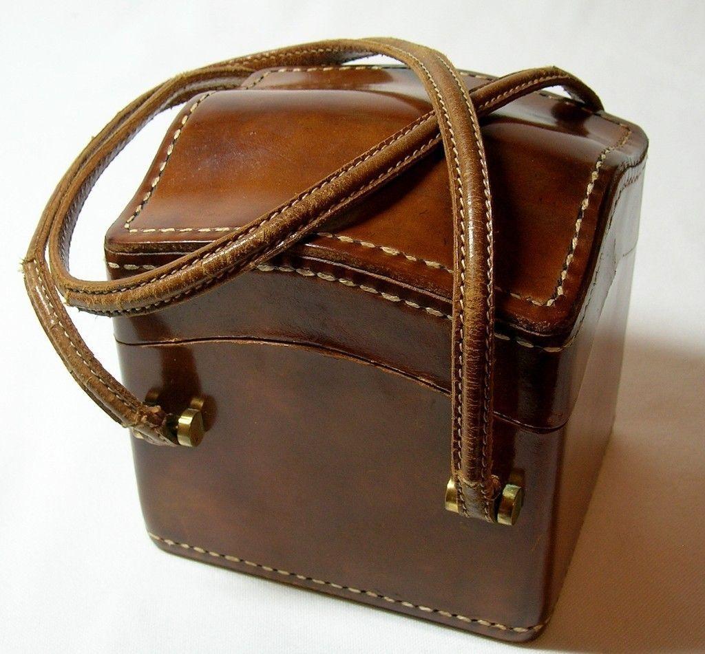 9da75ab05d904 Vintage Josef Italian Leather Square Box Bag Purse
