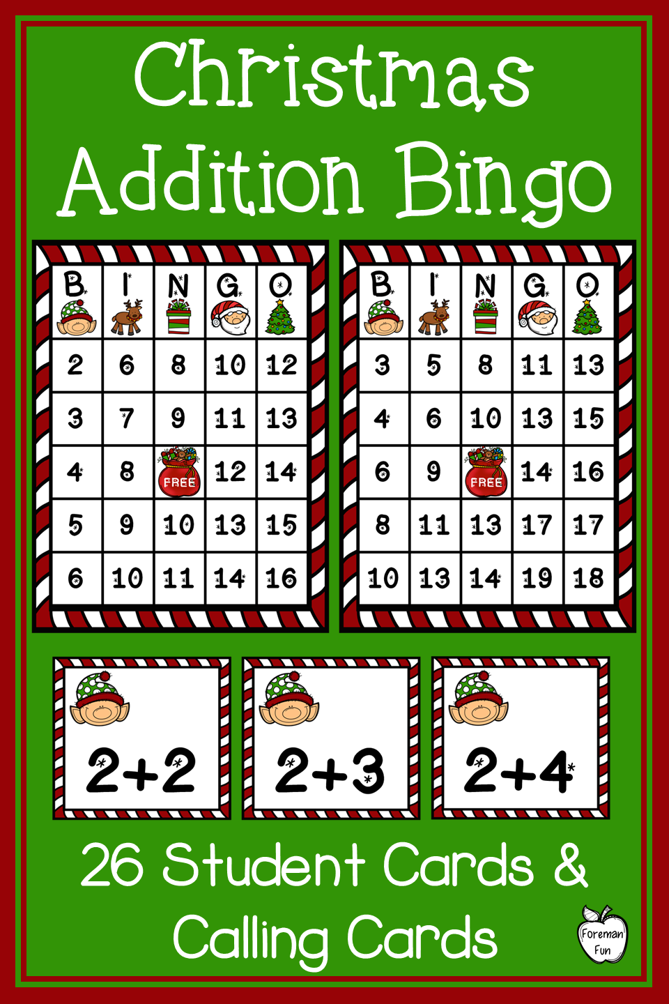 Christmas Addition Bingo Sums To 20 Class Party Game Christmas Math Games Christmas Multiplication Christmas Addition [ 1440 x 960 Pixel ]