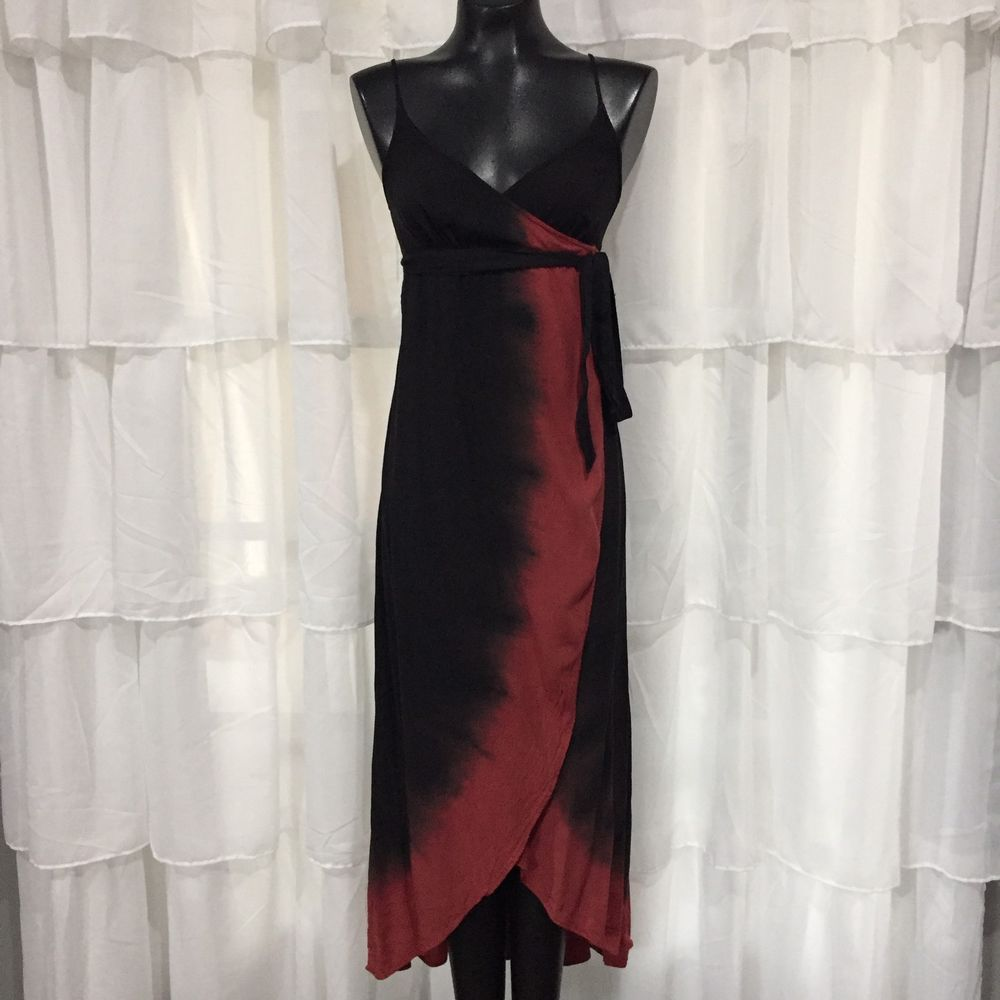 Xs express black and red dip dye wrap maxi dress pinterest dip