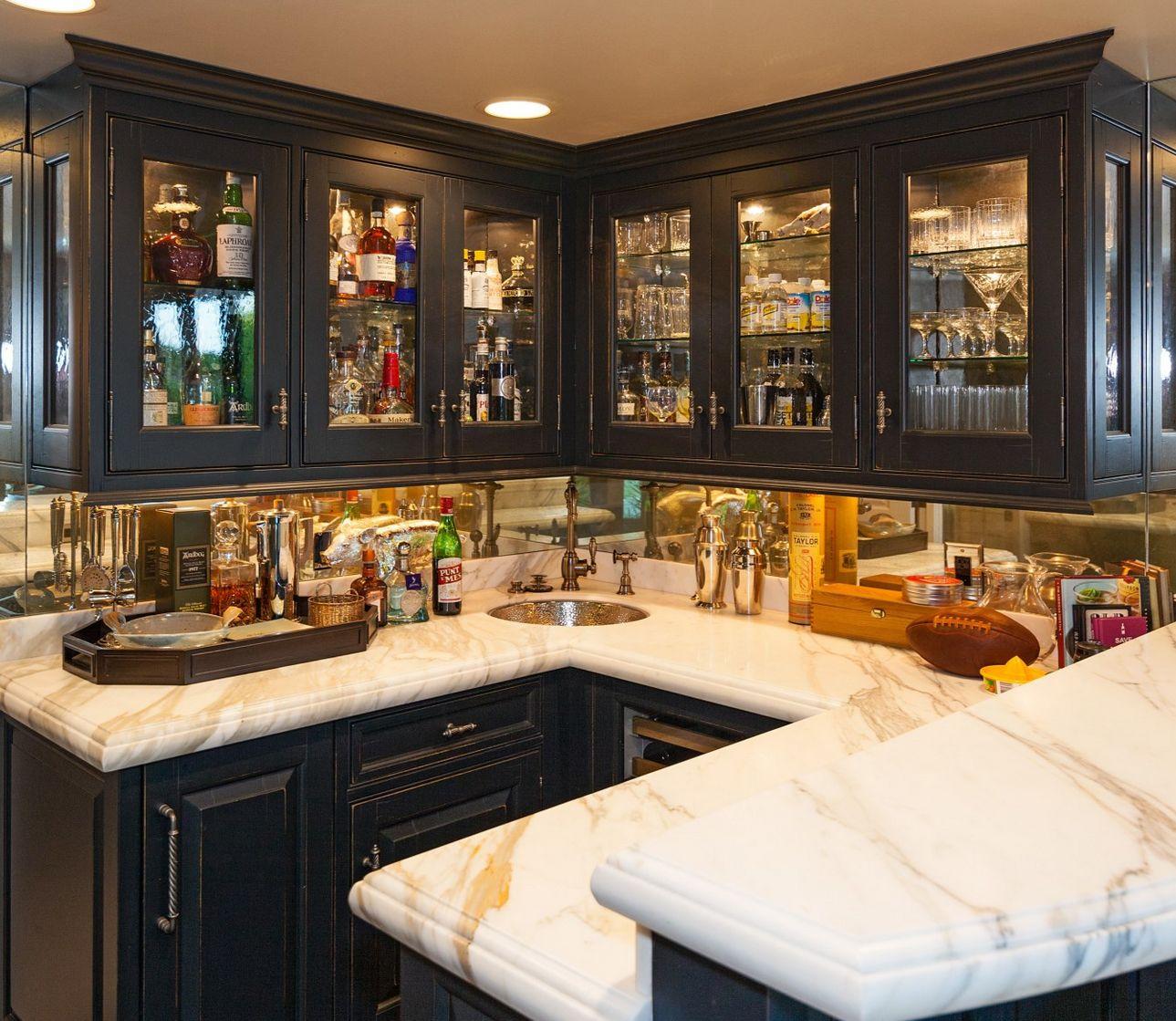 Jensen Acklesu0027s Malibu Mansion Is Supernaturally Luxe. Jensen AcklesMarble  CountertopsHome BarsDark WoodBeautiful ...