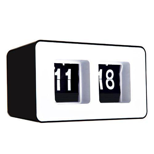 TTT-Mall Automatisches Flip-Clock Retro Auto Clock klassische stilvolle moderne Flip-Uhr
