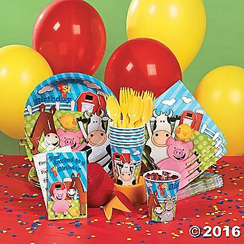 Farm 1st Birthday Party Pack Elishas 1yr Party Pinterest