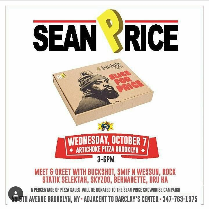 Get a pizza delivered by a surprise artist in Park Slope 347-763-1975 between 3-6pm @artichokepizza #SliceForPrice