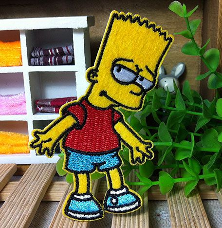 THE SIMPSONS MAGGIE CHARACTER  EMBROIDERED PATCH SEW IRON ON