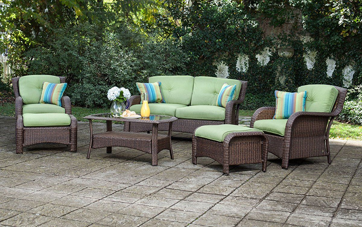 6 piece resin wicker patio furniture conversation set patio rh pinterest com resin wicker outdoor furniture clearance resin wicker outdoor furniture sale