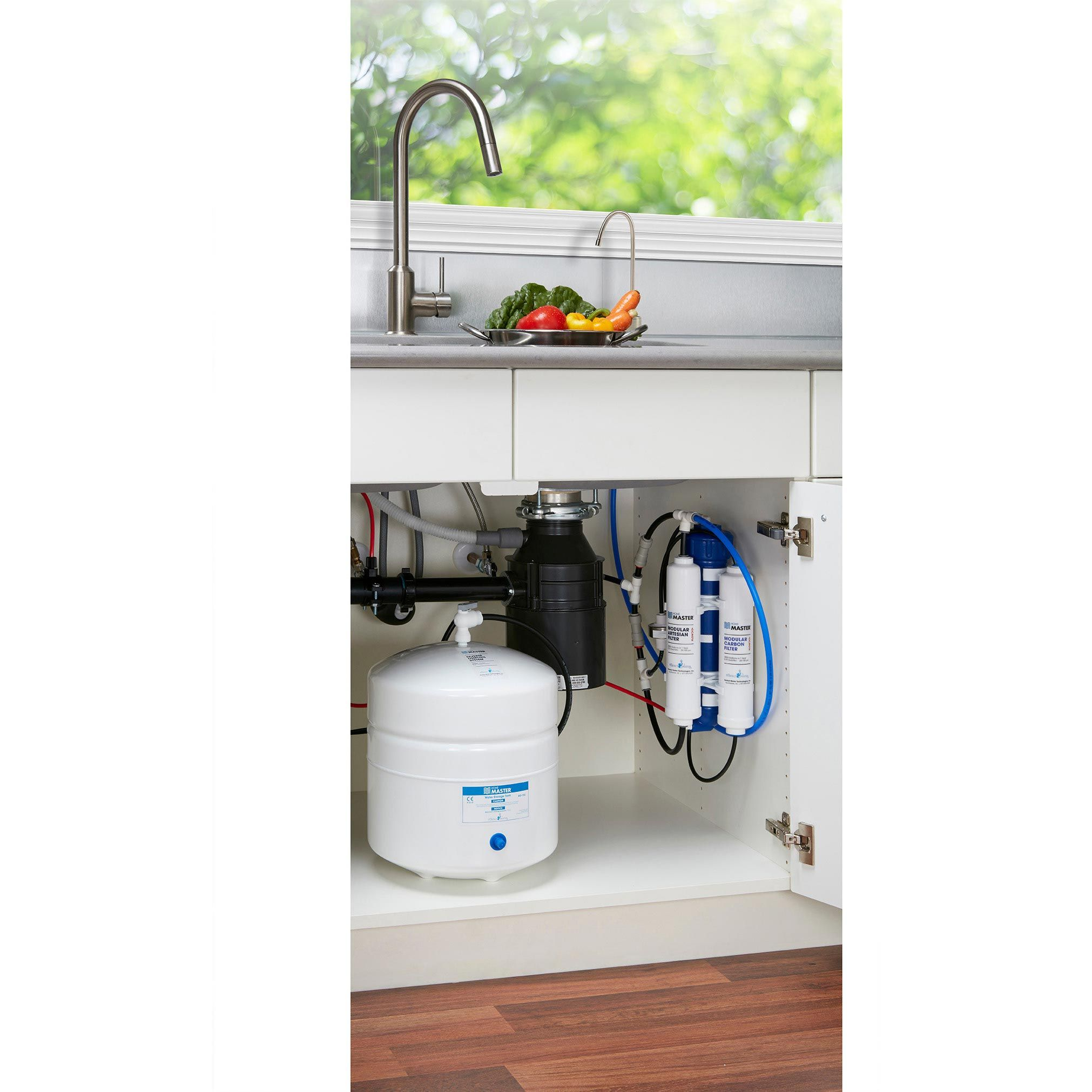 Home Master Reverse Osmosis Water Filtration System Installed