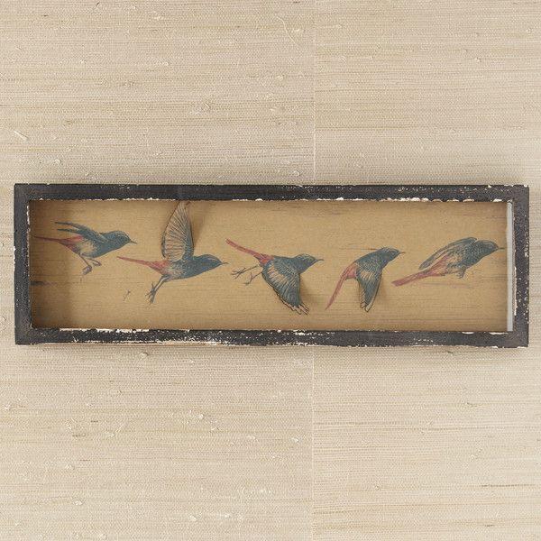 Birch lane flying birds wall art 3d wing effect