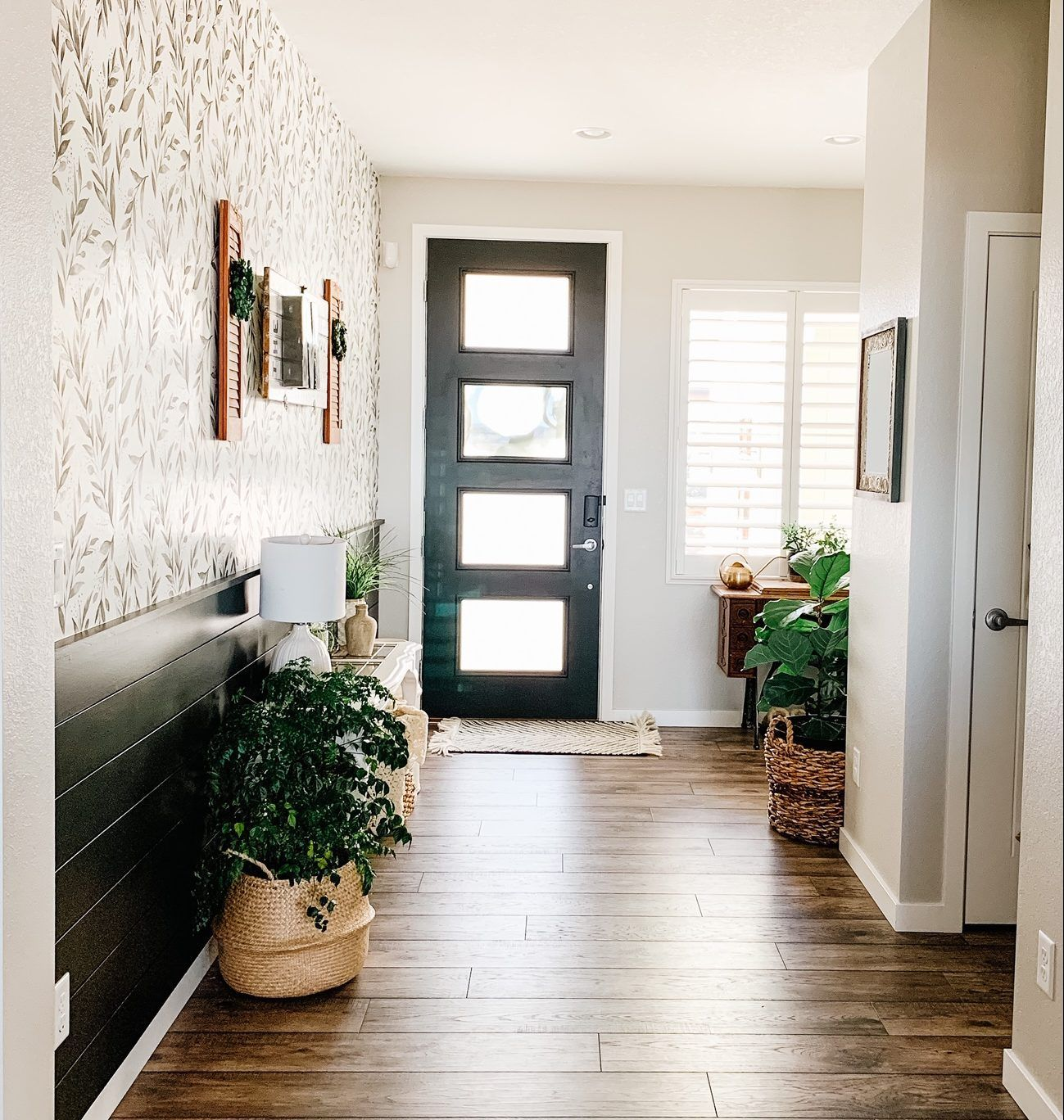 How To Customize Your Home In 3 Simple Ways Peel And Stick Wallpaper Entryway Inspiration Entryway Inspo