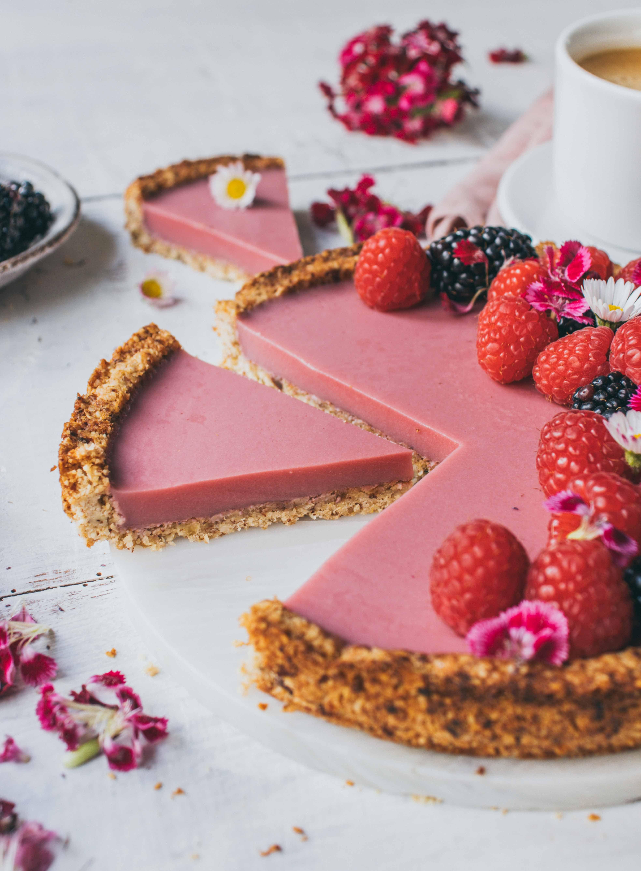 Himbeer Kokos Tarte | veganes und einfaches Rezept - Klara`s Life