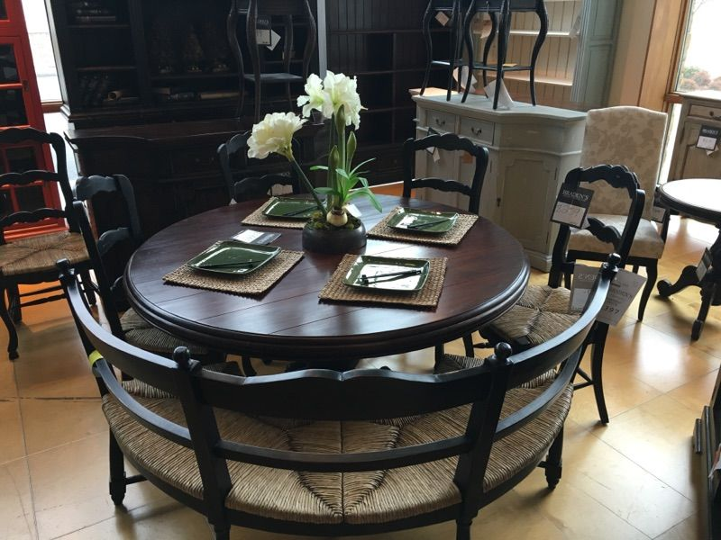 Furniture In Knoxville Braden S Lifestyles Furniture Round Dining Table With Curved Bench Dining Room Bench Seating Round Dinning Table Lifestyle Furniture