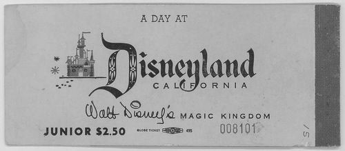 Great typography. This is such a better scrip for the Walt Disney name than the modern type treatment. Not to mention a way better price.
