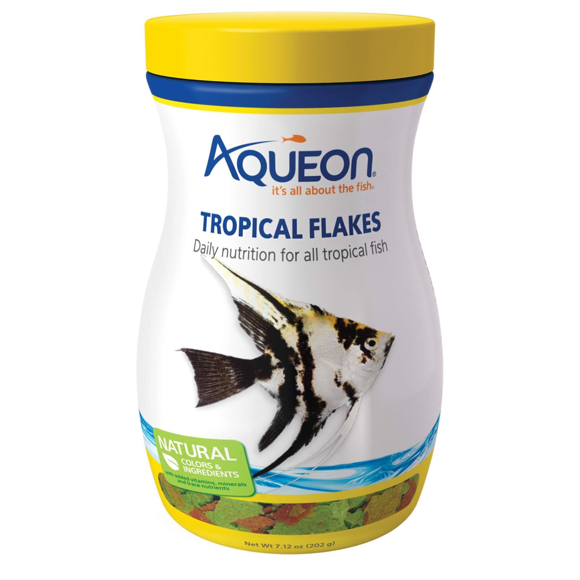 Aqueon tropical fish food flakes 712 ounces fish