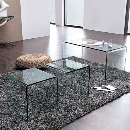 Buy long glass nest of 3 tables from glasstablesonline house buy long glass nest of 3 tables from glasstablesonline watchthetrailerfo
