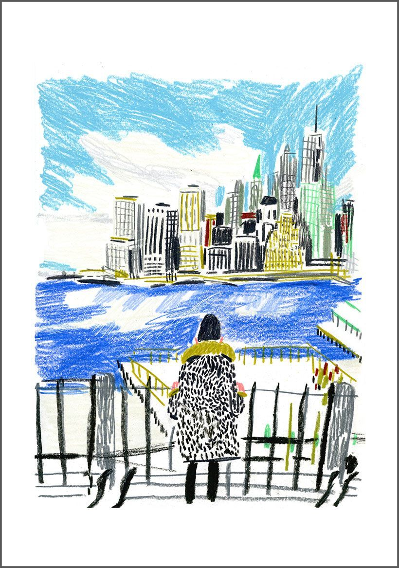 Edith Carron, BK Height #EdithCarron #Slowgalerie #illustration #ville #city #NewYork