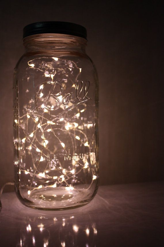mason jar lights (by a need to be me) via emmalinebride. neat idea for  porta-potties. plus other wedding bathroom ideas